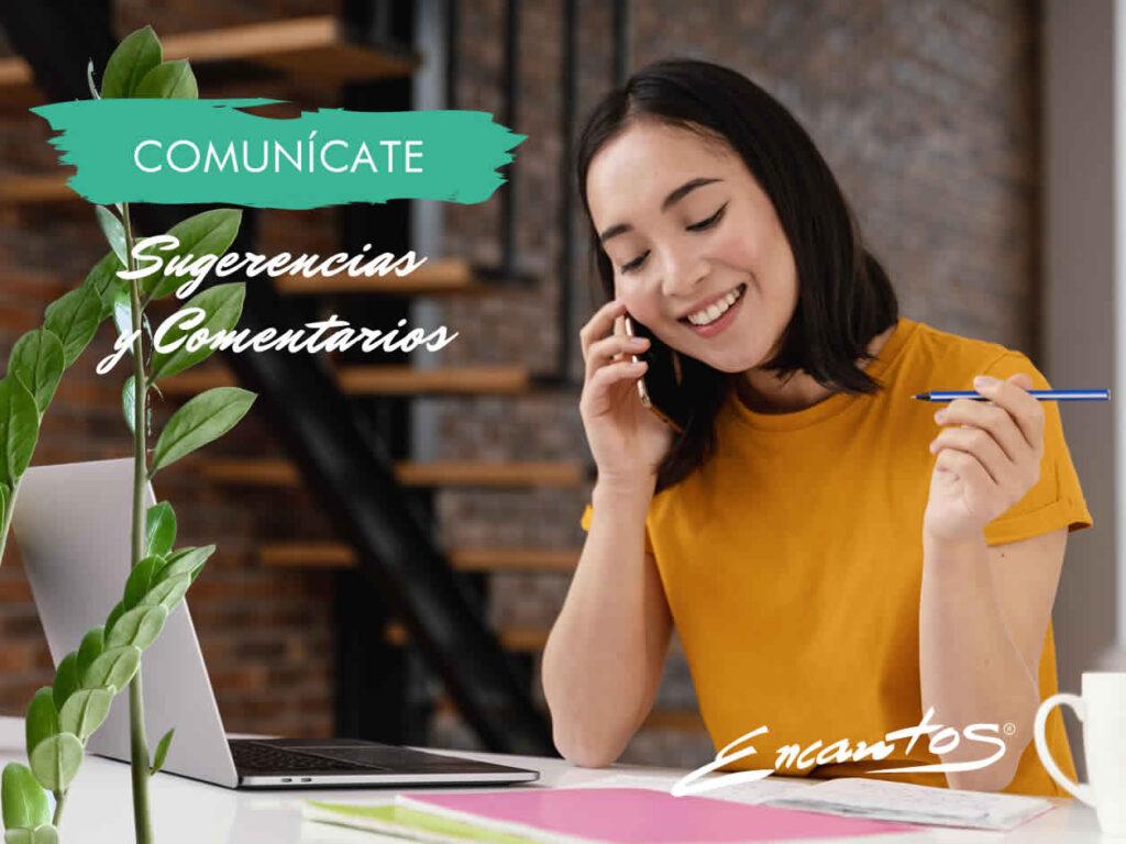 ENCANTOS SALONES - SUGERENCIAS Y COMENTARIOS